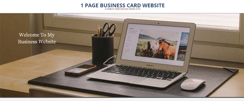 1 page business card website image